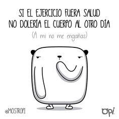 A mi no me engañas... #opi #cute #kawaii #mostropi #ilustración #ejercicio   por OSCAR OSPINA STUDIO