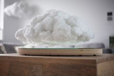 Richard Clarkson Studio and Crealev's Making Weather is an uncategorizable creation, an objet d'art and also a functional piece of technology: a polyester fiber cloud equipped with hidden magnetic levitation modules and other audio-visual delights.