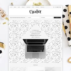 NEW! Pretty Creative WordPress Theme - Designed for creatives by Pretty Darn Cute Design prettydarncute.com