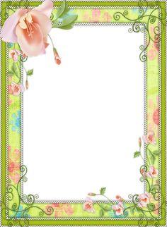 Light Green Transparent Flower Frame