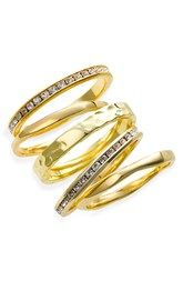 Ariella Collection Slim Stackable Rings (Set of 5)