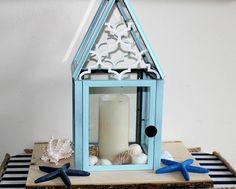 DIY Lantern From Dollar Store Frames :http://ourcraftymom.com/diy-lantern-dollar-store-frames/