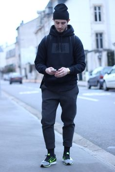 forever 21 men, office wear, latest mens fashion, how to wear Athleisure, Mode Masculine, Sport Style, Nike Shoes Outfits, Sport Outfits, Shoes Sneakers, Pigalle Hoodie, Forever 21 Men, Nike Flyknit Racer