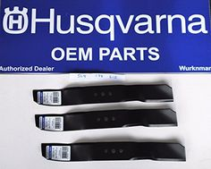 3 Genuine Oem Husqvarna Mower Blades 504188201 For R316 R320 Rider 155 175 R >>> Details can be found by clicking on the image.