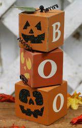 pic of wooden pumpkin boo blocks