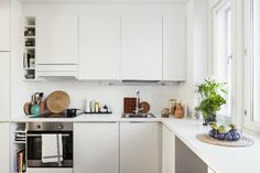 white kitchen , IKEA | styling: Bambula for BoKlok