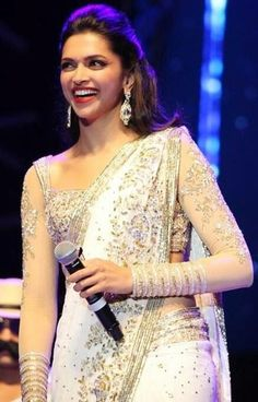 Deepika in Gorgeous Full Sleeve Saree Blouse Designs https://www.facebook.com/nikhaarfashions