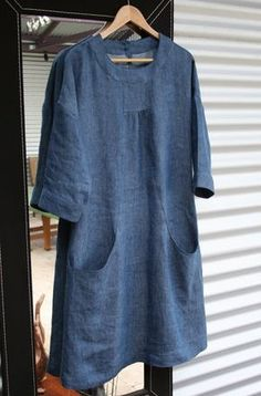 Lisette Simplicity pattern 2245 (Portfolio tunic) :: Made in linen by Five and Counting