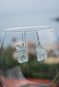 Mare Wave earrings  Love Lizzie Lou  Handcrafted jewelry and wine glass charms  http://www.facebook.com/Love.Lizzie.Lou