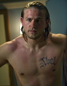 Picture: Charlie Hunnam, shirtless, on FX's 'Sons of Anarchy.' Pic is in a photo gallery for Charlie Hunnam featuring 54 pictures. Sons Of Anarchy, Look At You, How To Look Better, Just For You, Christian Grey, Brad Pitt, Fifty Shades, Best Dad, The Best