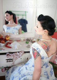 Passerine - wedding shooting, sailor bride dress Ⓥ Corporate Design, Costume Design, Sailor, Pin Up, Sari, Bride, Tattoos, Fashion Design, Wedding