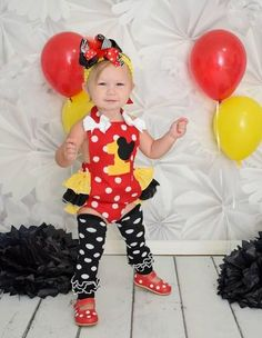 8a049b864 Girls Minnie Mouse Birthday Romper, First, Second Birthday, Minnie Mouse Birthday  Outfit from Needles Knots n Bows