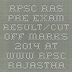 RPSC RAS Pre-Exam Result/Cut off Marks 2014 at www.rpsc.rajasthan.gov.in | Indiaexamupdate.in
