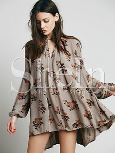 Shop Grey Long Sleeve Floral Dress online. SheIn offers Grey Long Sleeve Floral Dress & more to fit your fashionable needs.