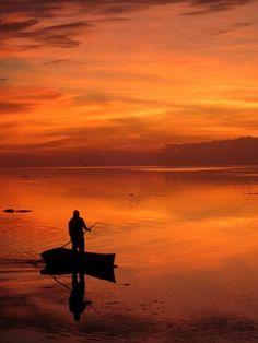 Incredible Sunset, San Felipe, Yucatán.