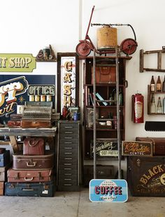 The studio of TJ Guzzardi, sign painter.