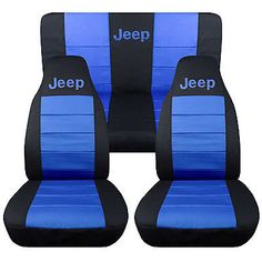 Black and Charcoal Jeep Seat Covers. 2 Front Black and Charcoal Seat Covers. Front and Rear Seat Covers. 2 Front Black and Lime Green Seat Covers. 2 Front Black and Hot Pink Seat Covers. 2 Front Charcoal Cowgirl Up Seat Covers. Jeep Wrangler Seat Covers, Jeep Seat Covers, Jeep Seats, Jeep Tj, 1997 Jeep Wrangler, Jeep Mods, Jeep Rubicon, Jeep Wrangler Tj Accessories, Cool Truck Accessories