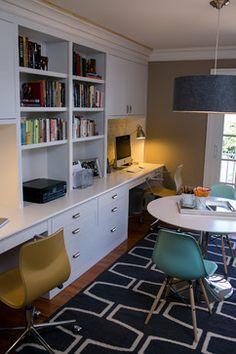 Home office family room design