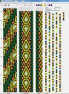"Жгут ""Восточный"" Crochet Necklace Pattern, Crochet Beaded Bracelets, Bead Crochet Patterns, Seed Bead Patterns, Beaded Jewelry Patterns, Crochet Diagram, Peyote Patterns, Beading Patterns, Loom Crochet"
