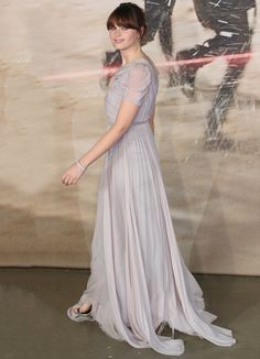 Felicity Jones at the 'Rogue One: A Star Wars Story' London premiere held at the Tate Modern in London on December 13, 2016
