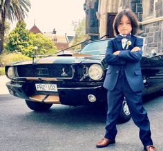Mustangs in Black 1966 Shelby GT350 Convertible Ford Mustang at Dane and Bronwyn's wedding in Melbourne.