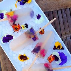 St. Germain Edible Flower Ice Pops