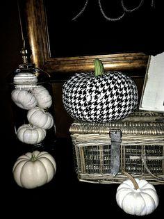 duct tape a dollar store pumpkin and wow!!! designer pumpkin!