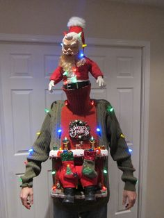 Picture of UGLY CHRISTMAS SWEATER DIY (Stuck in the Chimney 2012)