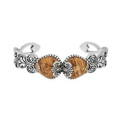 Carolyn Pollack Sincerely Fabulous Average Sterling Cuff ($97) ❤ liked on Polyvore