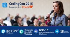ICD-10 Training is not over! Tackle ICD-10 post-implementation challenges with #CodingCon2015.  Visit website for advanced #ICD10 tips.