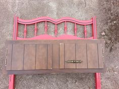 headboard and a kitchen cabinet make a great bench with storage, diy, kitchen design, painted furniture, repurposing upcycling, storage ideas, before found twin headboard and a 5 kitchen cabinet