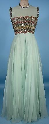 Balmain:  Silk Chiffon Gown 1958