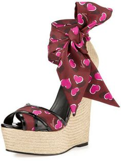 Gucci Crisscross Sash-Wrap Jute Wedge on shopstyle.com