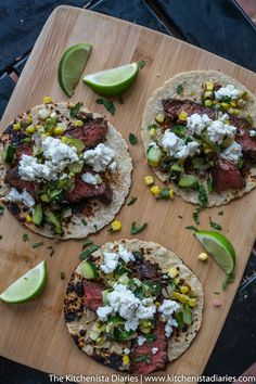 The Kitchenista Diaries: Grilled Coffee Rubbed Hanger Steak Tacos with Fresh Corn & Zucchini Relish