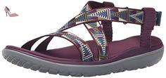 Teva W Terra-Float Women Livia Sandal, Mosaic Wine Grape, 41.5 B(M) EU - Chaussures teva (*Partner-Link)