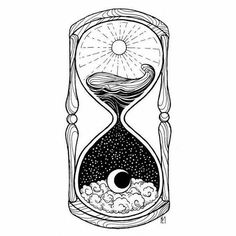 Drawings Ideas Hourglass Tattoo - the meaning of this Vanitas symbol Kunst Tattoos, Tattoo Drawings, Body Art Tattoos, Tatoos, Art Drawings, Drawing Art, Crazy Drawings, Drawing Drawing, Time Tattoos