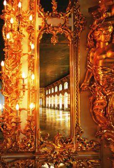 historyofromanovs:  The Ballroom of Catherine Palace, Saint Petersburg, Russia. Source