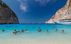 Blue Heaven - Navagio Beach in Zakynthos with beautiful sea colors...
