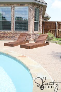 Hey there! Join us on Instagram and Pinterest to keep up with our most recent projects and sneak peeks! The rain has finally let up, down here in Texas, and I couldn't wait to get busy building this new set of lounge chairs, that I've been dreaming of, since we built our house! I had …