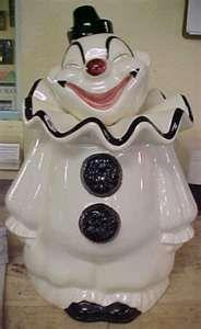 Vintage Metlox Clappy Clown Cookie Jar