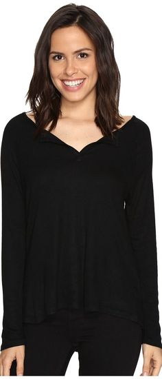 Culture Phit Cambria Long Sleeve Top (Black) Women's Clothing - Culture Phit, Cambria Long Sleeve Top, HT11004HC53, Apparel Top General, Top, Top, Apparel, Clothes Clothing, Gift, - Street Fashion And Style Ideas