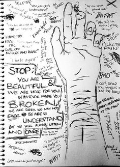 Key words from blogger site included with original posting --depressed depression suicidal suicide anxiety wow self harm self hate cutting poem self injury not mine! Description from pinterest.com. I searched for this on bing.com/images