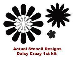 Nursery Stencils Daisy Crazy Kit 1 Easy by CuttingEdgeStencils