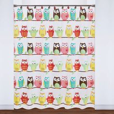 Colorful Owls PEVA Shower Curtain and 12-piece Hooks Set or Separates - 18198881 - Overstock.com Shopping - Great Deals on Shower Curtains