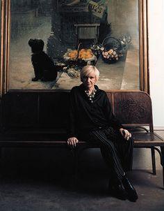 Jean-Marie Perier - Photographe - Françoise Sagan 1998