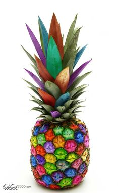 colourful pineapple