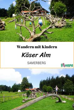 Käser Alm – Samerberg The hike is ideal for families with prams, as the entire route is paved. The rustic cheese Alm can be reached in about 45 minutes. The children can let off steam at the large nature playground directly in front of the hut. Summer Activities For Kids, Travel Activities, Family Activities, Travel With Kids, Family Travel, Natural Playground, Road Trip Hacks, Tours, Romantic Travel