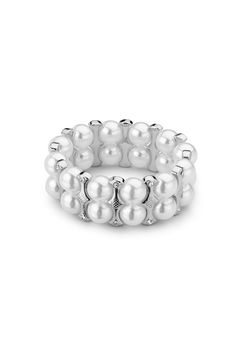 Classic bracelet! Lulu Avenue | barcelona white pearl, silver Bling your way to success with our fabulous jewelry pieces. ORDER TODAY @ www.luluavenue.com/sites/bling
