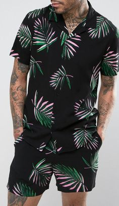 69 Super ideas for moda homem verao 2019 Latest Outfits, Short Outfits, Summer Outfits, Tomboy Fashion, Mens Fashion, Style Fashion, Romper Men, Tomboy Stil, Tropical Outfit
