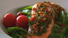 Losos s lehkou letní marinádou na salát